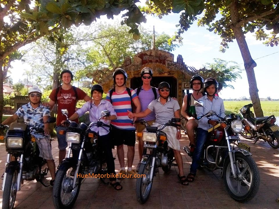 Hue sightseeing motorbike tour