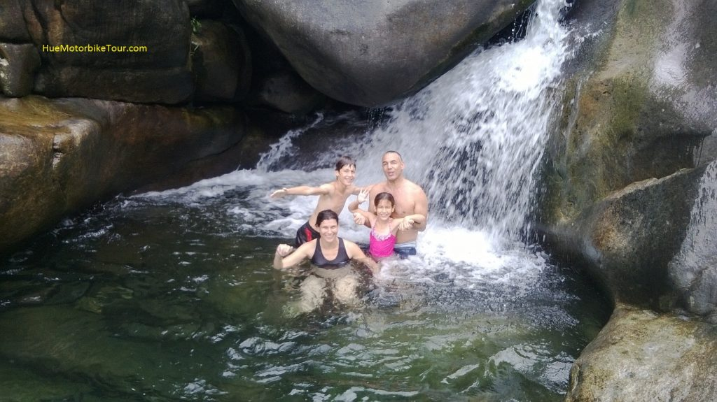 Swim in the natural pool at Suoi Voi Elephant Spring in Hue